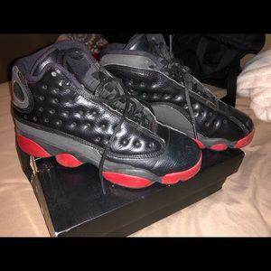 Jordan 13 retro black/ gym red